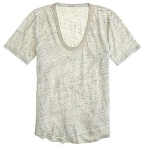 NWT Metallic Trim Sketched Cotton T Shirt